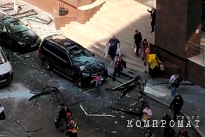 В бизнес-центре в Москве произошел взрыв