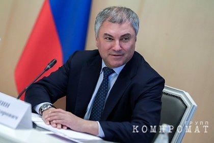 Володин ответил на призывы к бойкоту голосования по поправкам к Конституции
