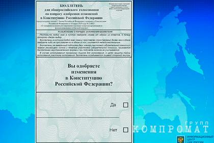 Россиянам показали бюллетень для голосования по поправкам в Конституцию