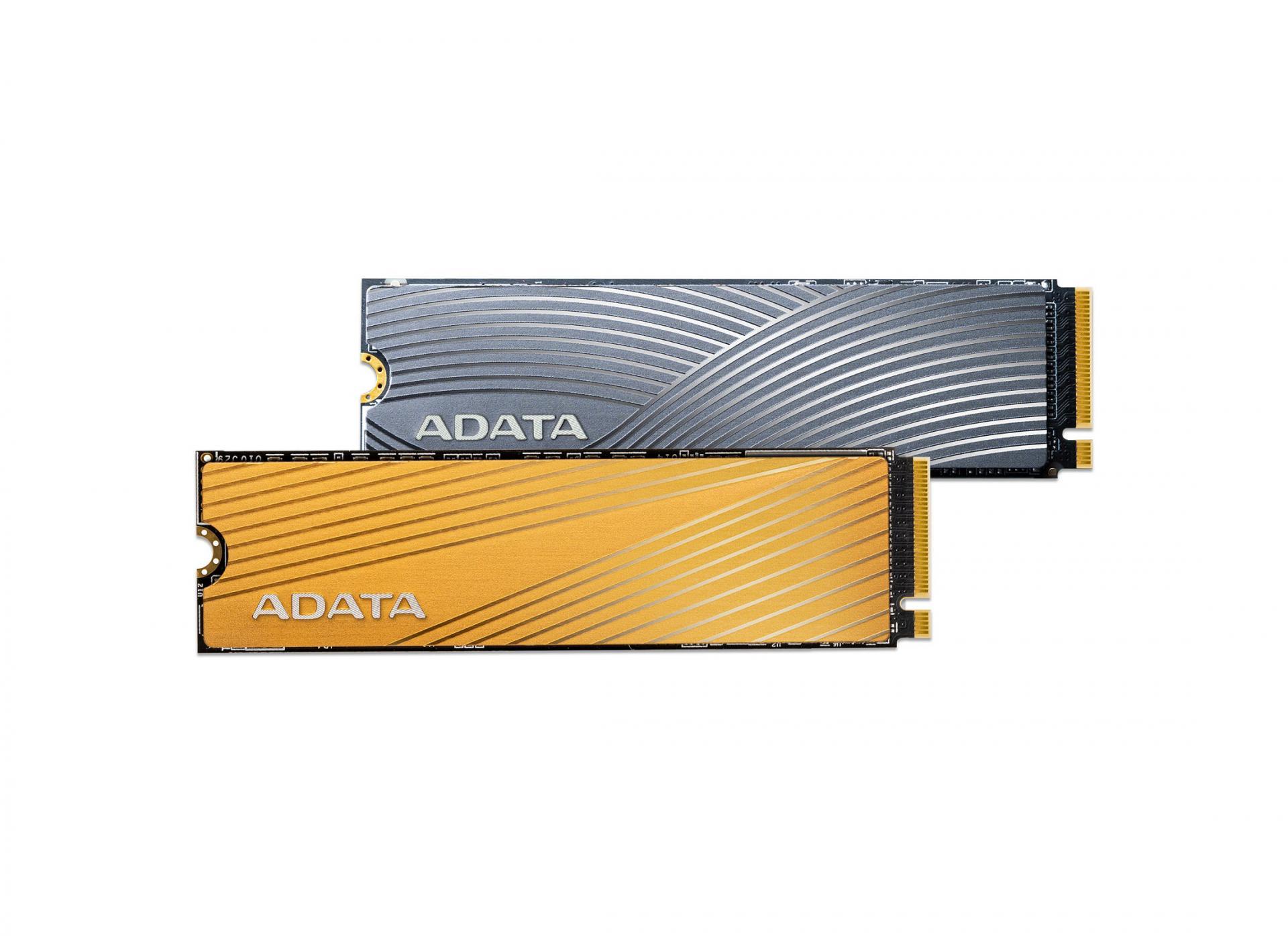 SSD Falcon и Swordfish от ADATA. Оба PCIe Gen3×4 M.2 2280