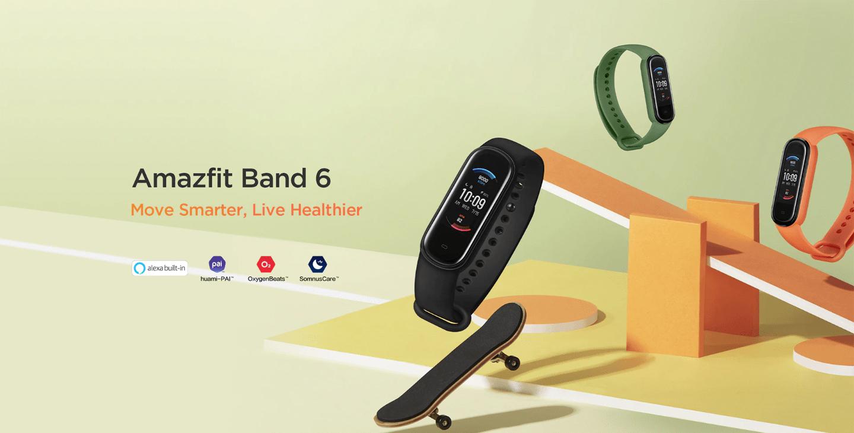 Amazfit Band 6: клон Mi Smart Band 5, но с датчиком измерения уровня кислорода в крови и голосовым помощником Alexa