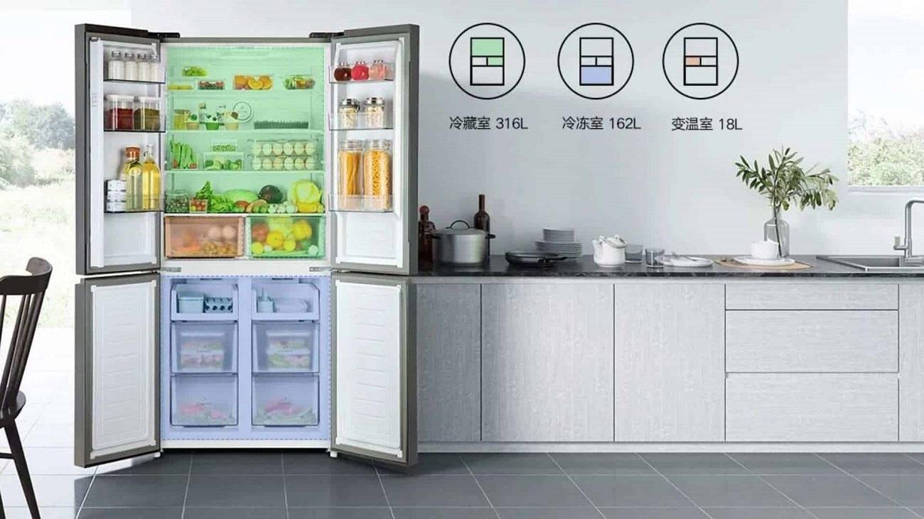 Xiaomi выпустила четырёхдверный холодильник за $855