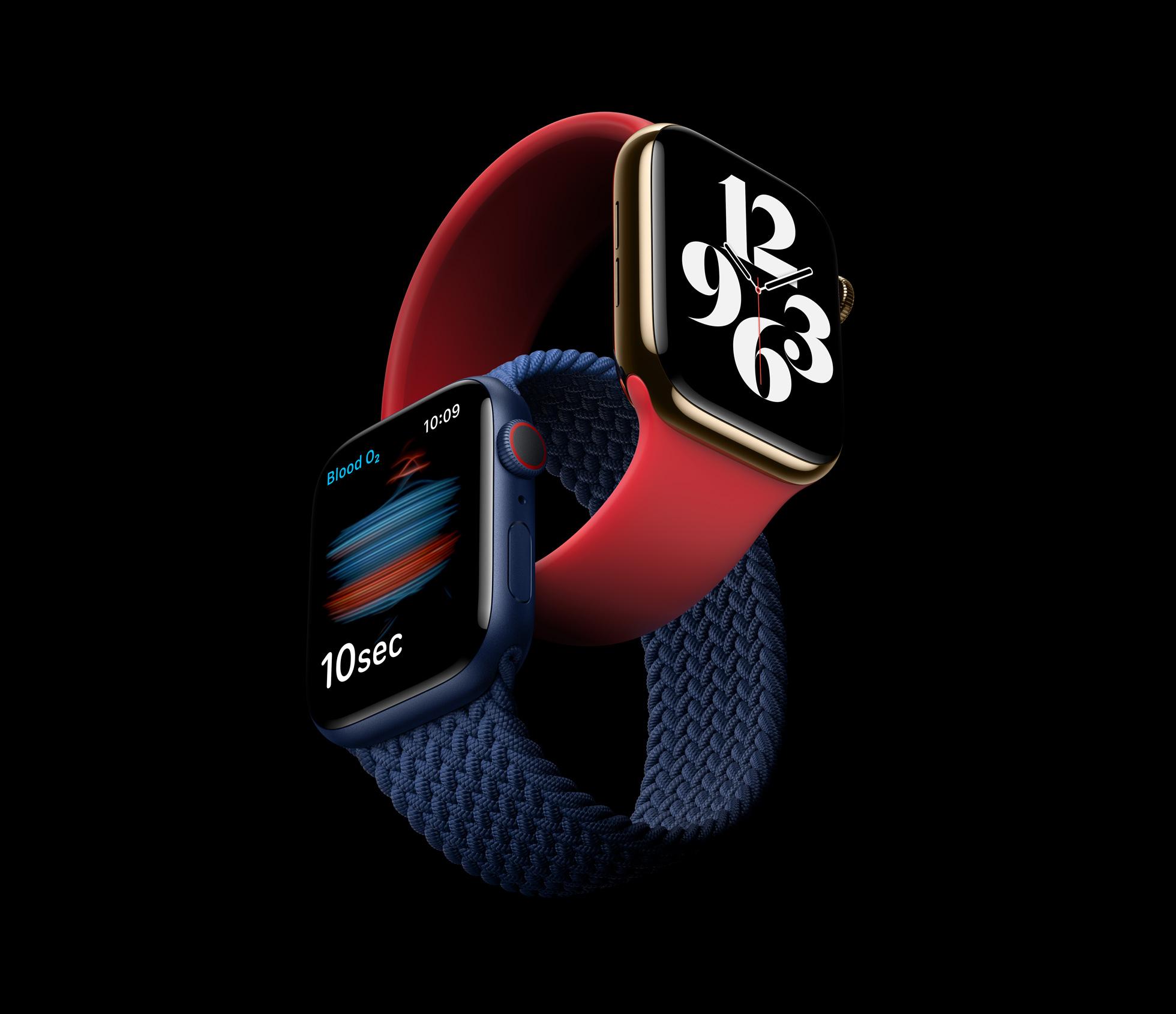 Apple представила смарт-часы Watch Series 6: с датчиком измерения уровня кислорода в крови, но без адаптера в комплекте