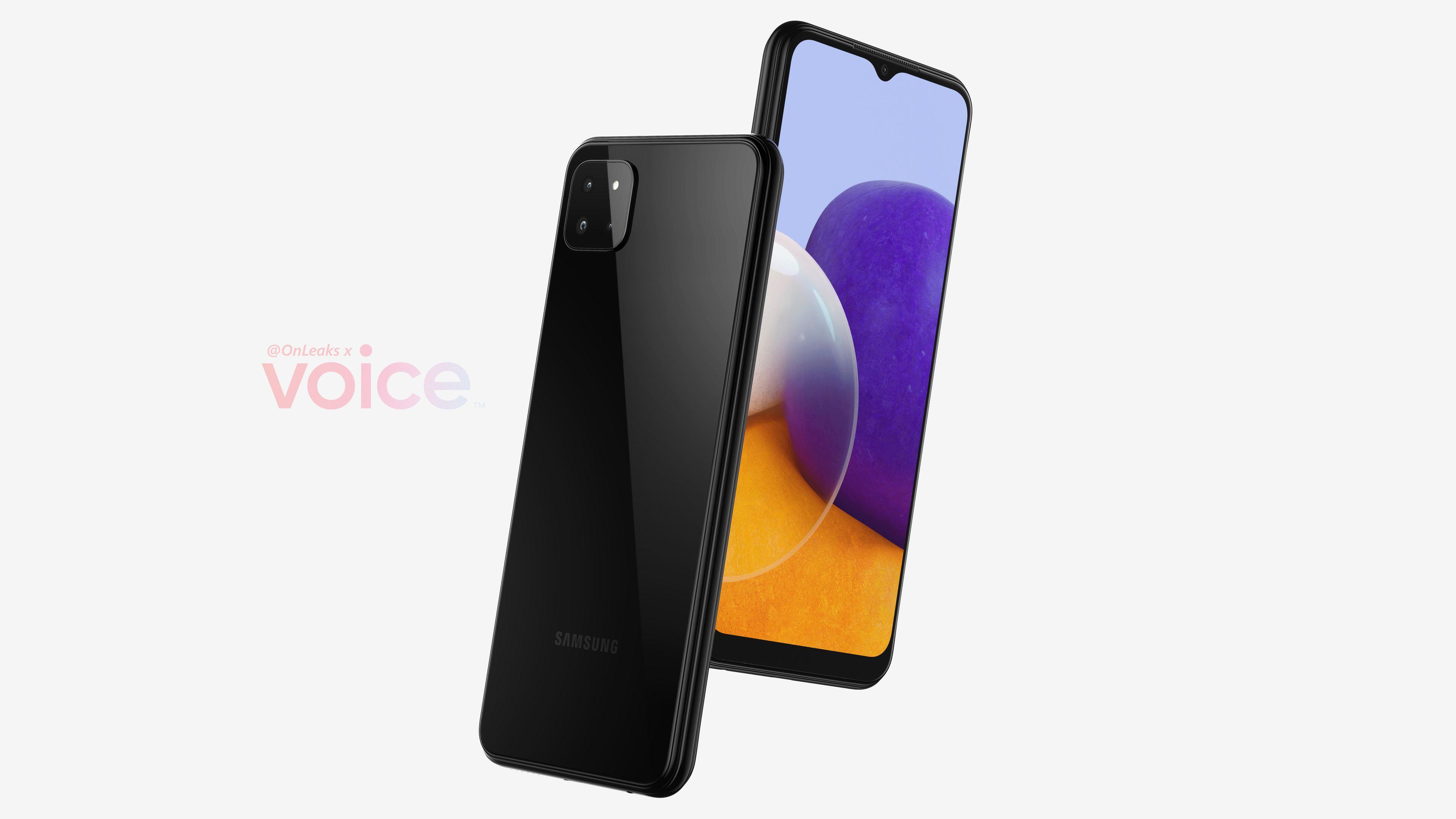 Galaxy A22 на рендерах и видео: так будет выглядеть самый дешёвый 5G-смартфон Samsung