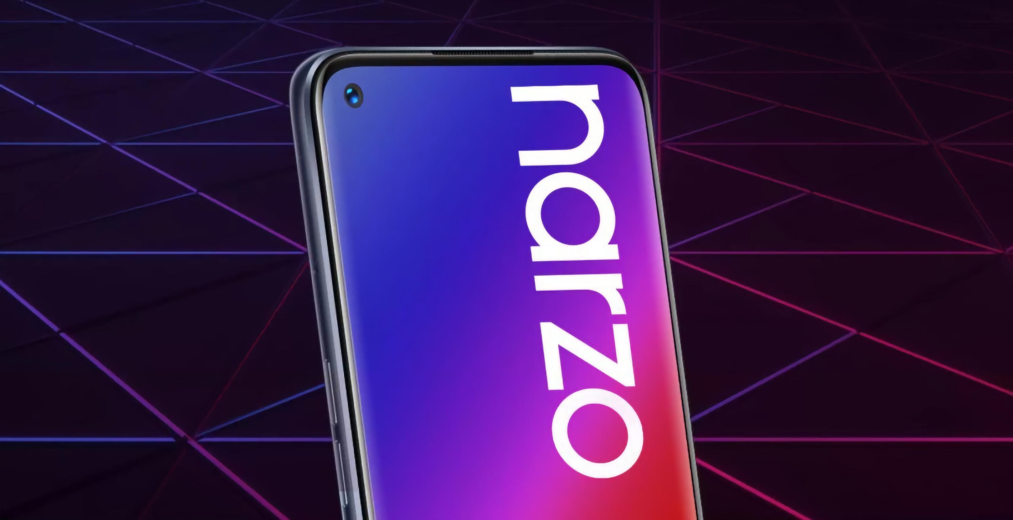 Инсайдер: Realme Narzo 20 Pro получит дисплей на 90 Гц, квадро-камеру на 48 Мп и быструю зарядку на 65 Вт