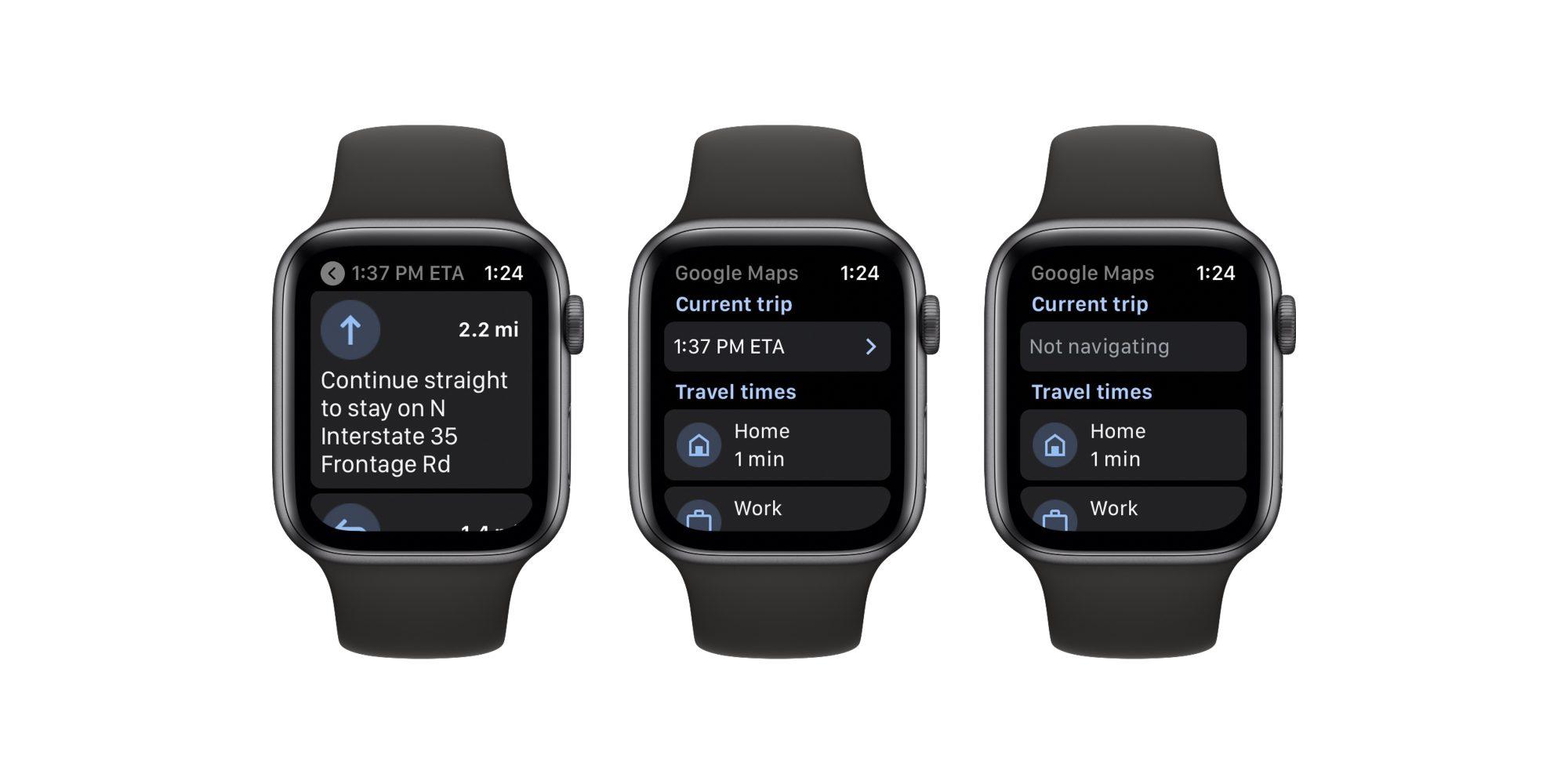 Google Maps снова доступны для Apple Watch