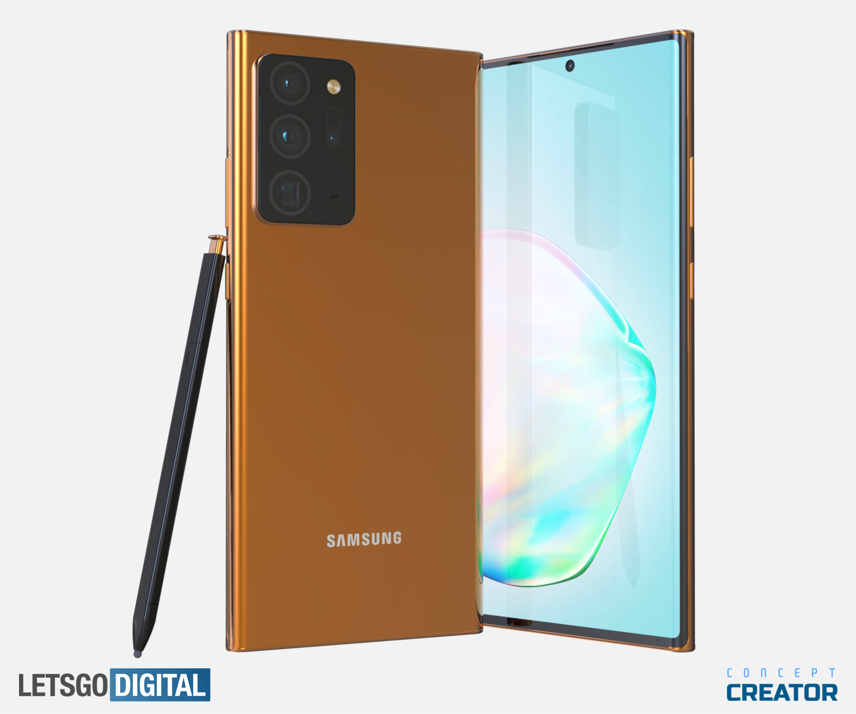 Золотой флагман: Samsung Galaxy Note 20 Ultra (Note 20+) на новых рендерах и видео