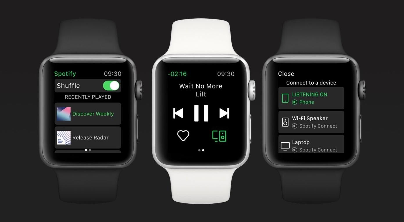 Spotify выпустил отдельное приложение для смарт-часов Apple Watch Series 3 и выше