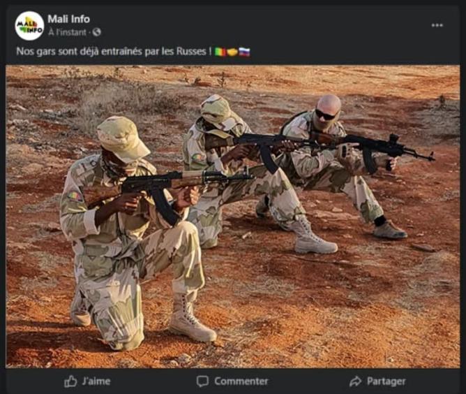 Российские инструкторы приступили к обучению солдат армии Мали