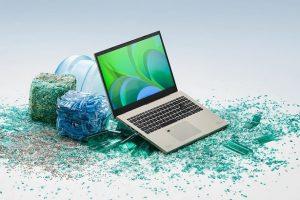 Линейка устройств Acer Vero из ПК и переферии использует в конструкции экологически чистые материалы