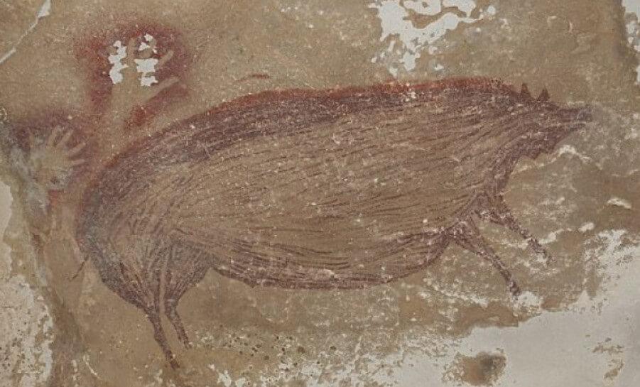 В Индонезии найден самый древний рисунок с животными. Ему 45 500 лет