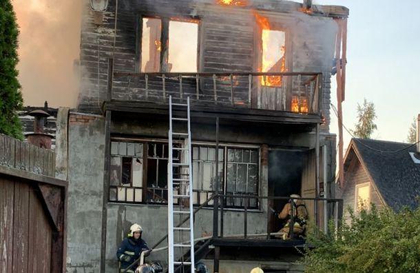 В Дачном поселке в пожаре погибла пожилая женщина