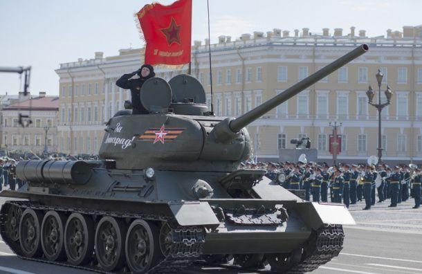 Репетиция парада Победы на Дворцовой 30 апреля пройдет с боевой техникой