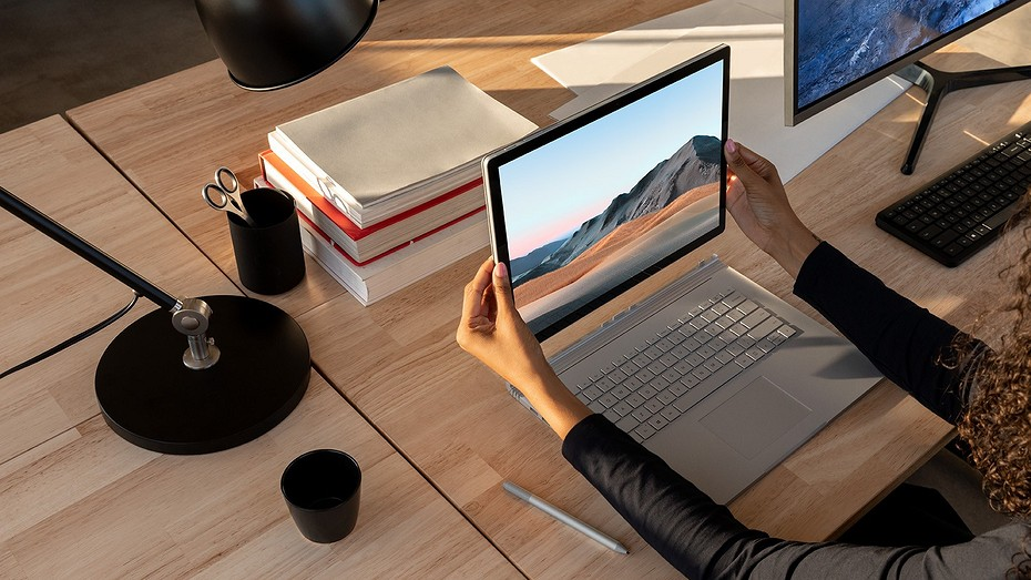 Гибридный ноутбук Microsoft Surface Book 3 стал на 50% производительнее предшественника