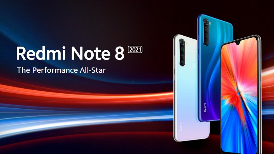 Xiaomi представила ремастер одного из самых хитовых бюджетных смартфонов - Redmi Note 8 2021