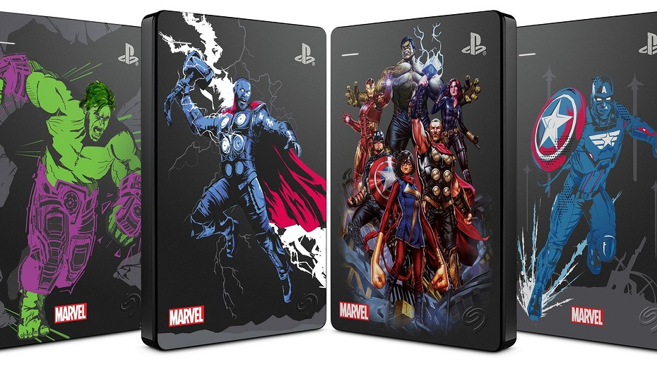 """Обзор внешнего диска Seagate Game Drive for PS4 Limited Edition """"Marvel Avengers"""""""