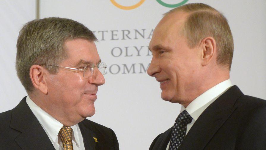 Путин поздравил главу МОК с днем рождения