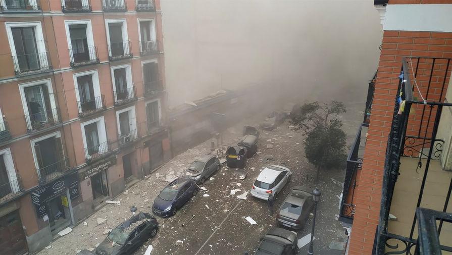 Появилось видео с места взрыва в Мадриде