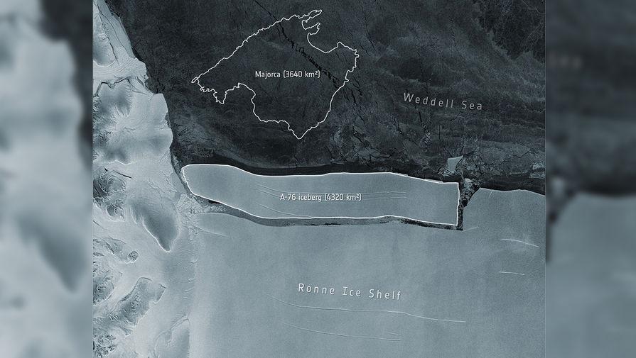 Появилось видео с отколовшимся от Антарктиды крупнейшим в мире айсбергом