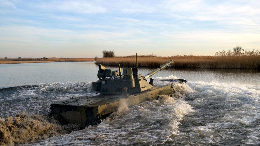 'Ростех' собирается создать плавающий колесный танк со 125-мм пушкой