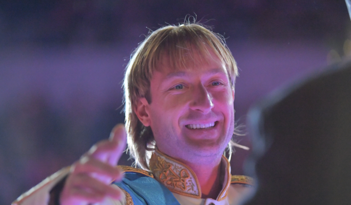Рудковской пришлось объясняться из-за синяка на лице Плющенко