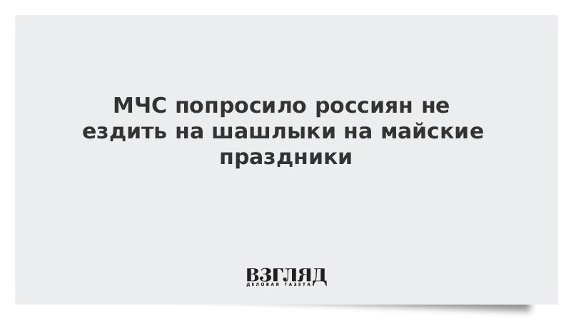 МЧС попросило россиян не ездить на шашлыки на майские праздники