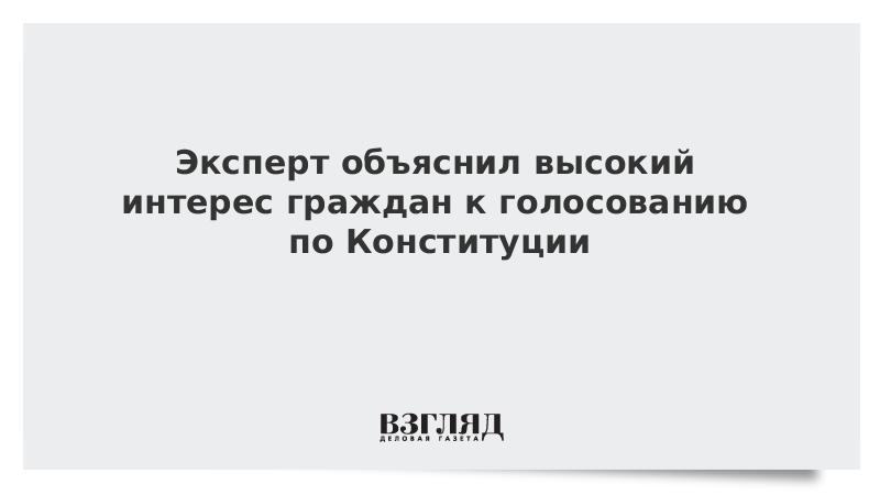 Эксперт объяснил высокий интерес граждан к голосованию по Конституции