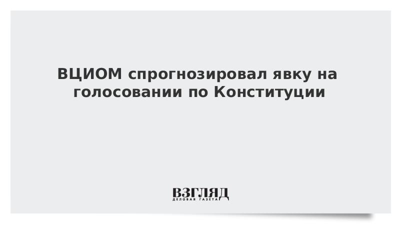 ВЦИОМ спрогнозировал явку на голосовании по Конституции