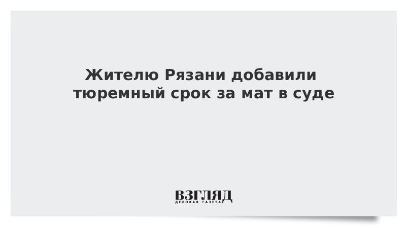 Жителю Рязани добавили тюремный срок за мат в суде