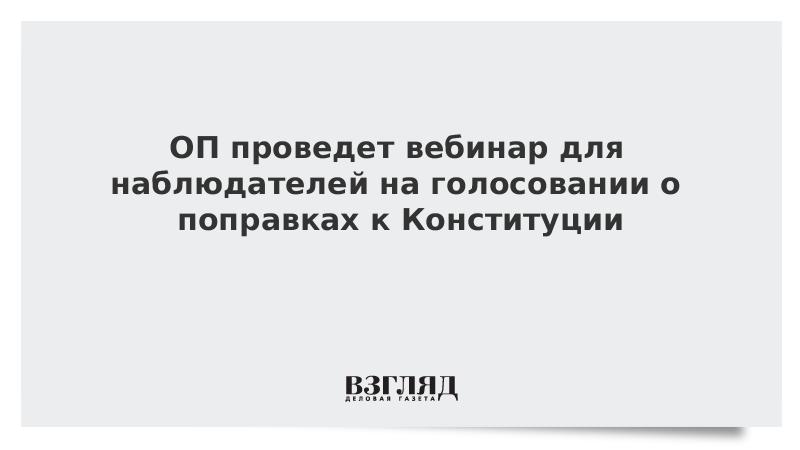 ОП проведет вебинар для наблюдателей на голосовании о поправках к Конституции