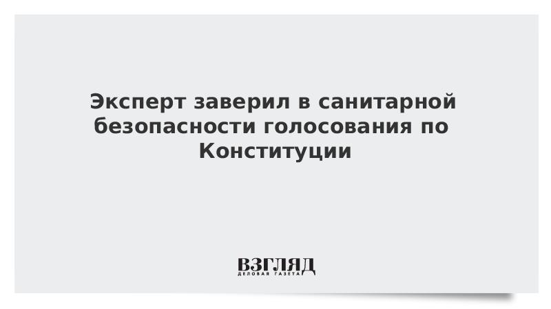 Эксперт заверил в санитарной безопасности голосования по Конституции