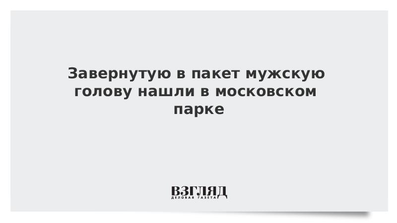Завернутую в пакет мужскую голову нашли в московском парке