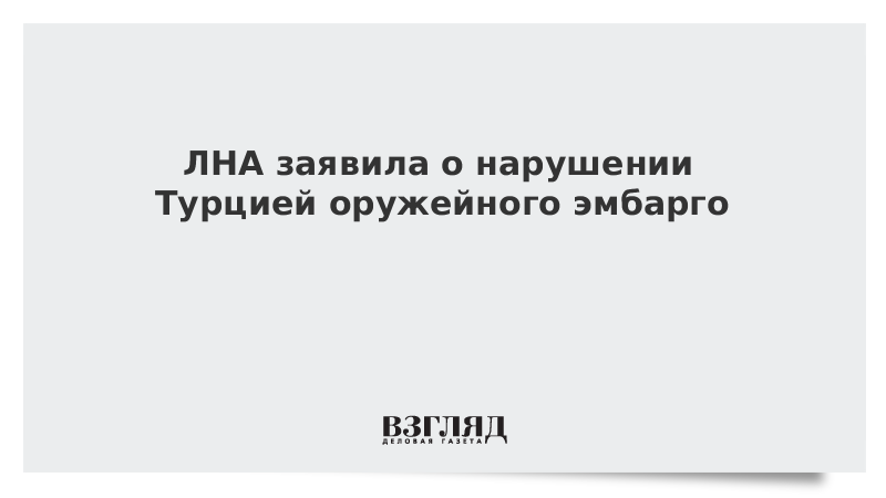 ЛНА заявила о нарушении Турцией оружейного эмбарго