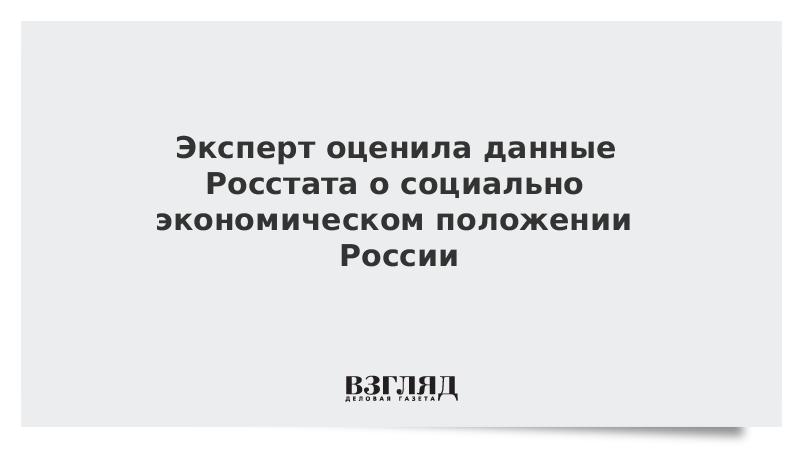 Эксперт оценила данные Росстата о социально-экономическом положении России