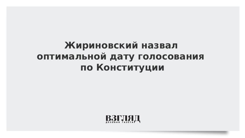 Жириновский назвал оптимальной дату голосования по Конституции
