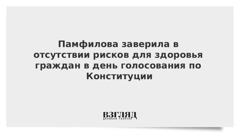Памфилова заверила в отсутствии рисков для здоровья граждан в день голосования по Конституции