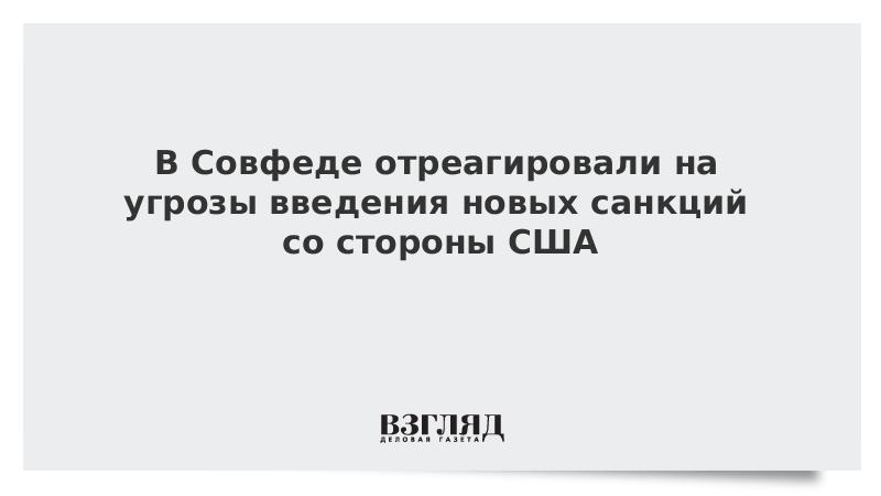 В Совфеде отреагировали на угрозы новых санкций США против «Северного потока – 2»
