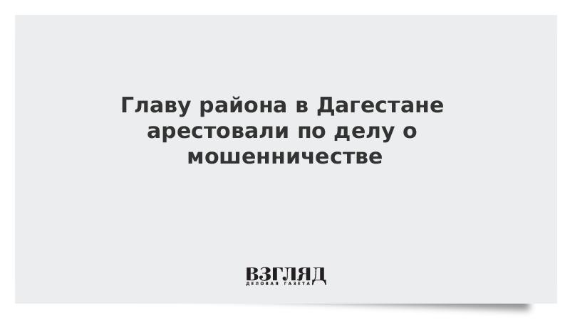 Главу района в Дагестане арестовали по делу о мошенничестве