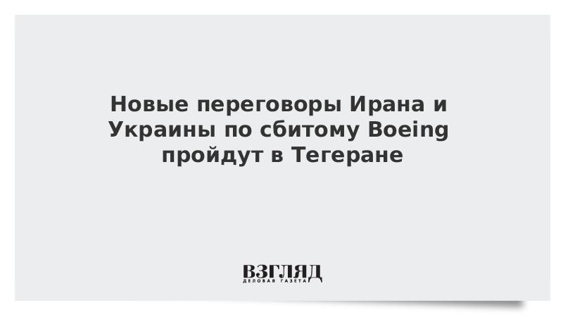Новые переговоры Ирана и Украины по сбитому Boeing пройдут в Тегеране