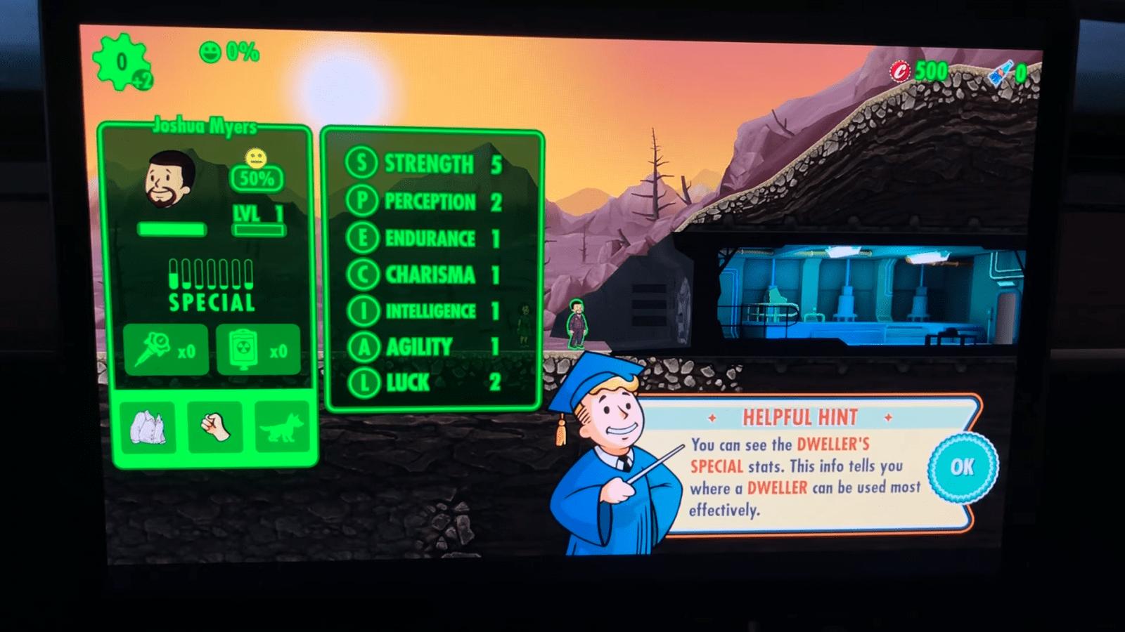 Игра Fallout Shelter появилась в автомобилях Tesla