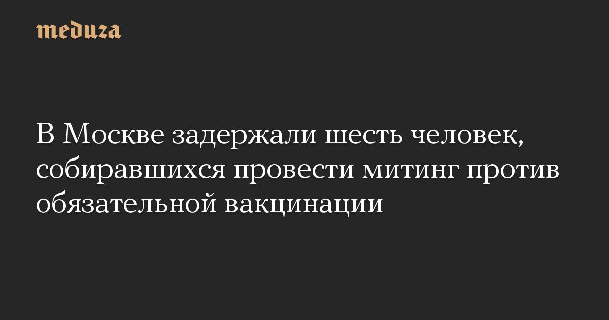 В Москве задержали шесть человек, собиравшихся провести митинг против обязательной вакцинации