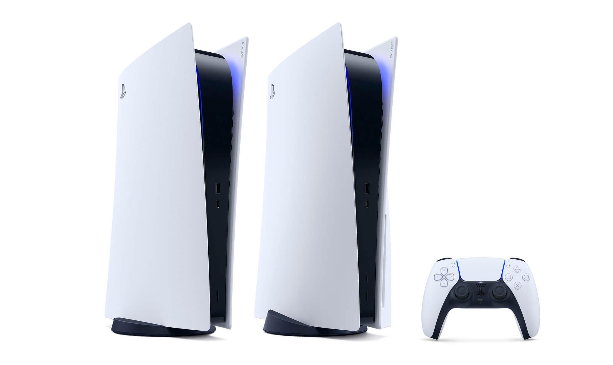 Sony показала две версии PlayStation 5 в горизонтальном положении