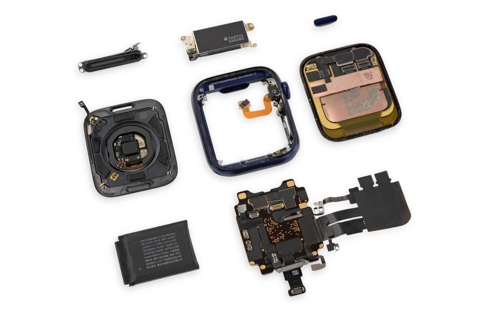 iFixit оценил ремонтопригодность Apple Watch Series 6 в 6 баллов из 10