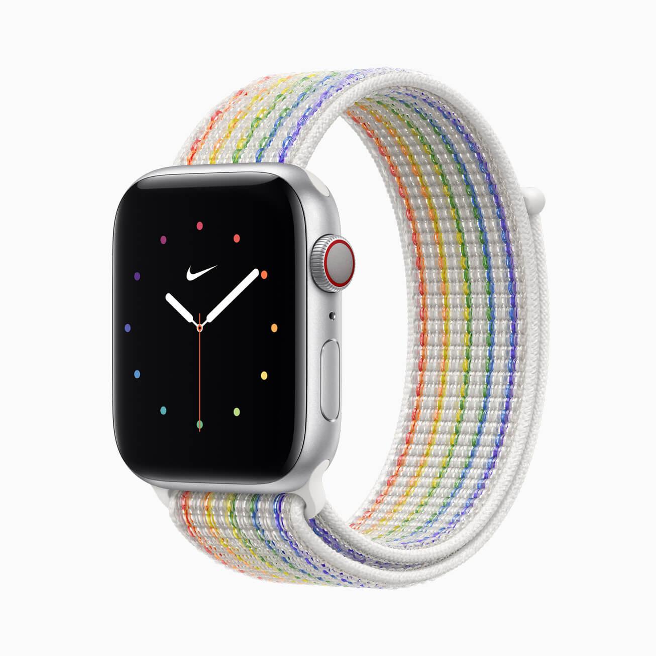 Apple анонсировала радужный ремешок для Apple Watch за $100