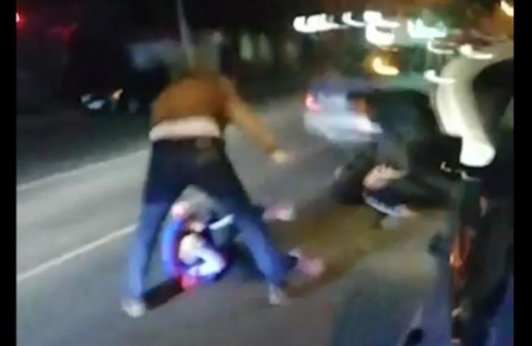 Появилось видео задержания челябинских налетчиков
