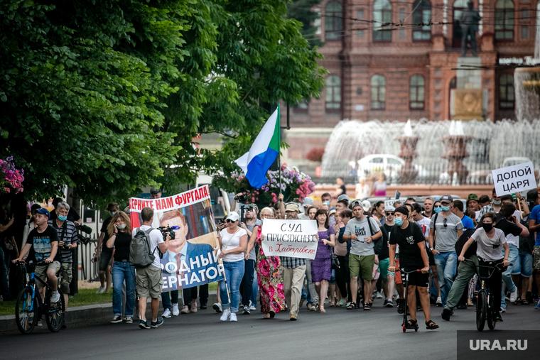 В Екатеринбурге прошла акция в поддержку Хабаровска. Есть задержанные. ФОТО, ВИДЕО