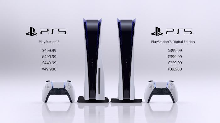PlayStation 5 стоит 499 долларов, издание Digital Edition без привода – 399 долларов