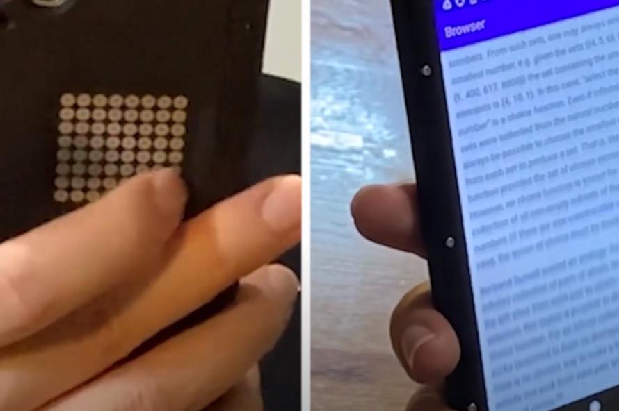 В США создали чехол с тачпадом для смартфонов. Ему не требуется аккумулятор и подключение через порт
