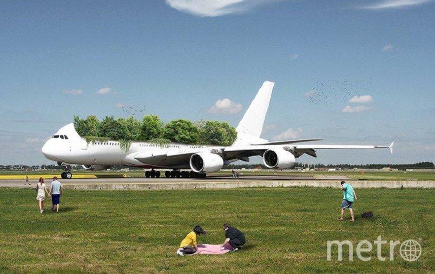 Самолёт-клумба: дизайнер из Франции представил будущее после пандемии Covid-19