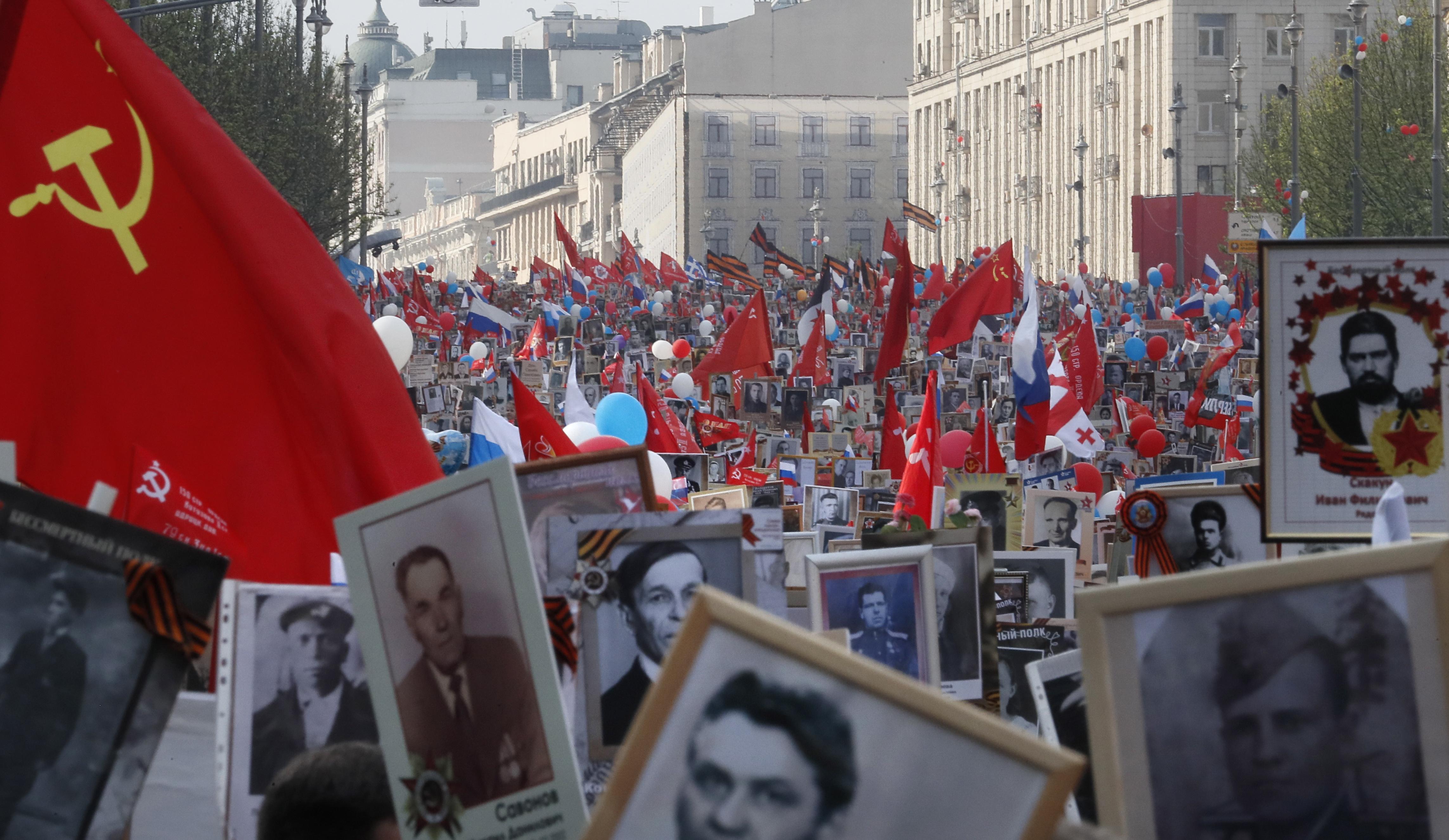 Более 600 тысяч россиян подали заявки на участие в онлайн-шествии 'Бессмертного полка'
